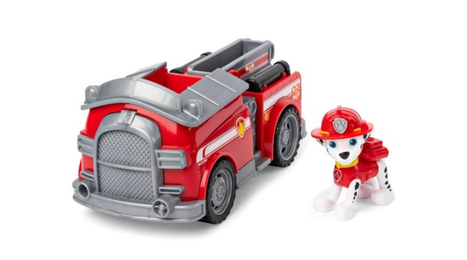 PAW Patrol Fire Engine Vehicle with Marshall – Spin Master