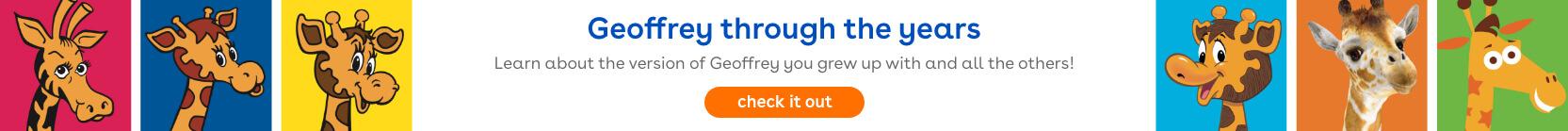Geoffrey through the years