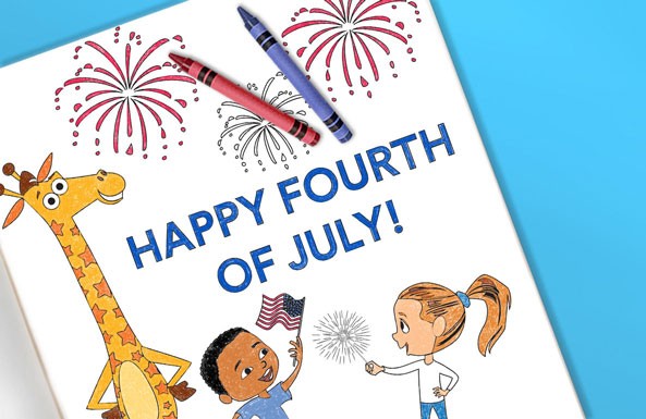 'Fourth of July coloring sheet