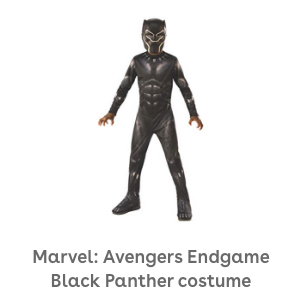 Rubie's Marvel: Avengers Endgame Child's Black Panther Costume & Mask