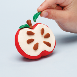 play-doh how to make a pretend apple
