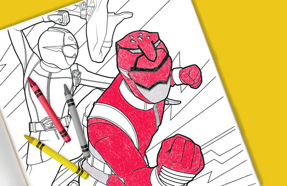 Power Rangers coloring sheets