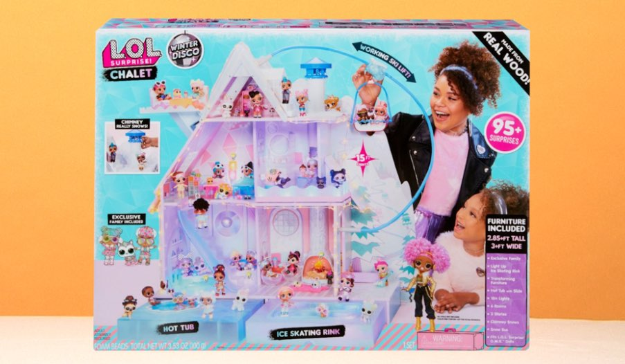 L O L Surprise Winter Disco Chalet Doll House Toy Review Toys R Us