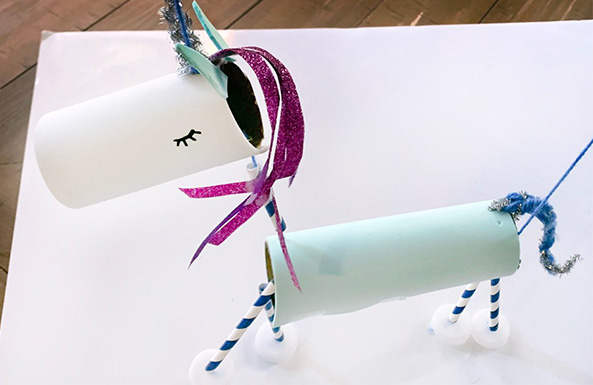 unicorn marionette diy activity for kids