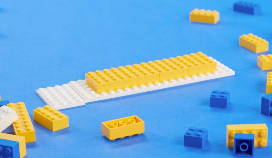 6 4x4 LEGO plates, 10 2x4 LEGO bricks