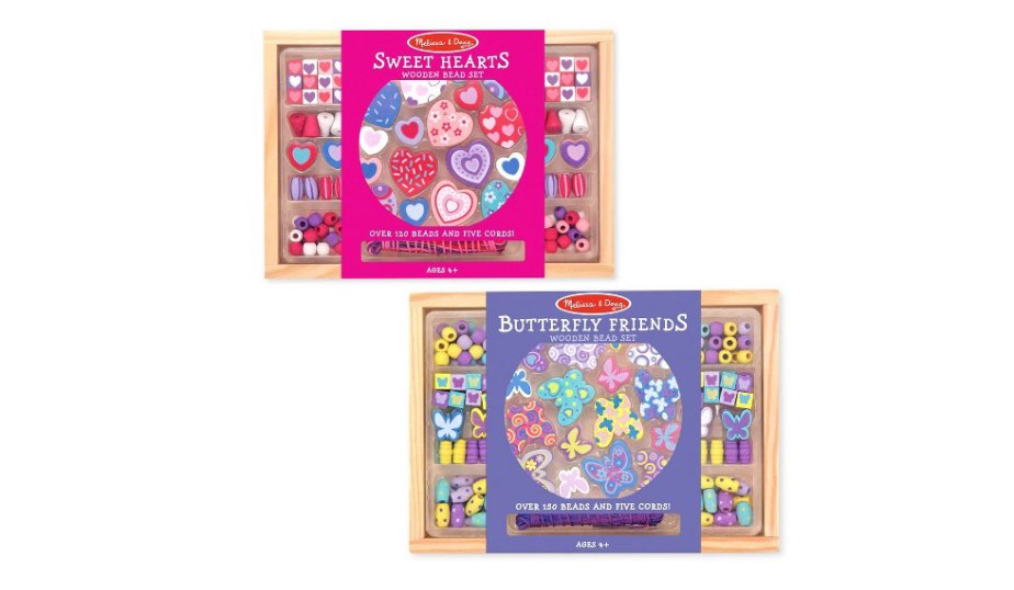Sweet Hearts and Butterfly Friends Bead Set of 2 — Melissa & Doug