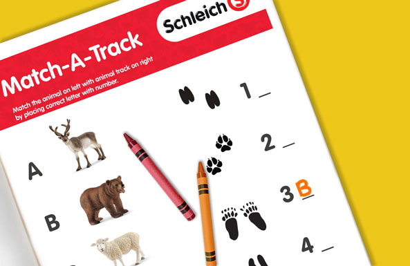 Schleich match-a-track free printable for kids