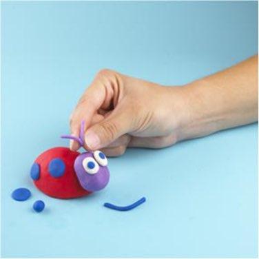 play-doh how to make a ladybug