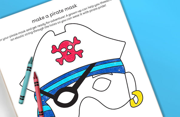 make a pirate mask free printable activity for kids