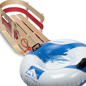 sleds & snow tubes image