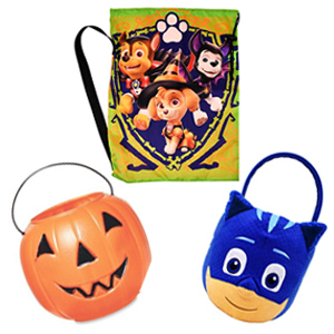 trick or treat bags & buckets image